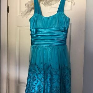 Blue homecoming style dress
